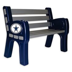 Sit back and proudly display your pro football team allegiance in your yard with the NFL Outdoor Park Bench. Made of heavy-duty plastic with solid pine lumber slats, this striking and sturdy bench features the colors and logo of your favorite team. Professional Football Teams, Pro Football Teams, Dallas Cowboys Leather Jacket, Dallas Cowboys Room, Cowboys Gifts, Cowboy Room, How Bout Them Cowboys, National Football League, Georgia Bulldogs