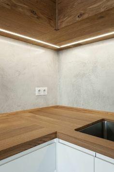 Kitchen Room Design, Home Room Design, Living Room Kitchen, Living Room Decor, House Design, Attic House, House Rooms, Apartment Projects, Apartment Design
