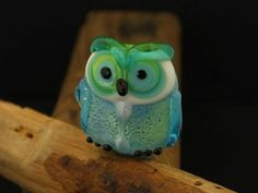 Phoebe...... lampwork owl bead... sra by DeniseAnnette on Etsy, $18.00