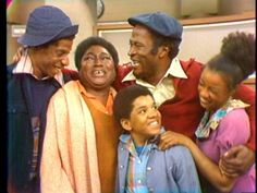 James and Florida Evans with daughter Thelma and sons JJ and Michael from Good Times