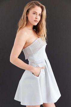 Keepsake Northern Lights Beaded Mini Dress