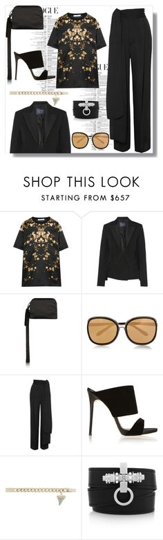 """My Mood Today"" by lidia-solymosi ❤ liked on Polyvore featuring Givenchy, Lanvin, The Row, Linda Farrow and Giuseppe Zanotti"
