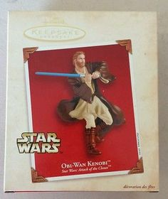 Hallmark ornaments Star Wars Obi Wan Kenobi from attack of the clones