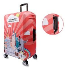 Dream Castle suitcase cover elastic suitcase cover zipper luggage case removable cleaning suitable for 29-32 trunk cover