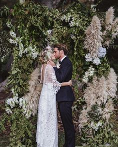 So much to love in this beautiful wedding at @audleydancehallandcafe  Flowers by @the_sisters fit so perfectly into the backdrop of Royal National Park  Beautiful Verdelle dress by @grace_loves_lace (More from this wedding on their blog)  Image by @kieranmoorephotography