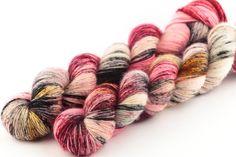 temptation hand dyed yarn speckled yarn fingering yarn merino wool 4ply skinny singles 100g