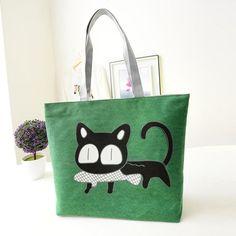 Famous Brand Women Handbag Fashion Female Cat Ladies Large Clutch Bag Woman Canvas Casual Handbags Shoulder Tote Bag Bolsos