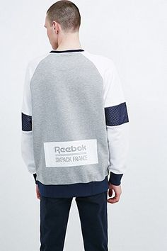 Reebok X Sixpack France Mesh Panel Sweatshirt in Grey - Urban Outfitters