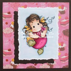 Coloring Magnolia Stamp 2014 Lost And Found Collection - Tilda With Big Balloon
