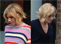 The 30 Hottest Medium Length Hairstyles: Sienna Miller's Gorgeous Choppy Lob