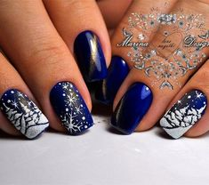 50 Winter Nail Art Designs 2019 These trendy Nails ideas would gain you amazing compliments. Check out our gallery for more ideas these are trendy this year. Manicure Nail Designs, Manicure E Pedicure, Acrylic Nail Designs, Nail Art Designs, Nails Design, Acrylic Nails, Glitter Manicure, Acrylic Art, Xmas Nails