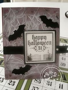 Card, Stampin' Up, Halloween