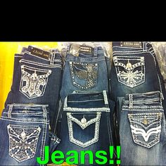 Cute Bling Jeans! www.extremecleanbling.com