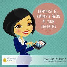 Happiness is.. having a salon at your fingertips !! www.thenomadicspalon.com #TheNomadicSpalon #SpaAtHome
