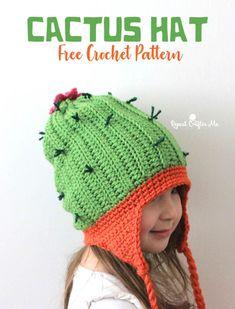 Crochet Cactus Hat