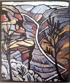 Shoalhaven Gorge NSW by Australian artist Margaret Preston Margaret Rose, Margaret Preston, Australian Painting, Australian Artists, Landscape Prints, Landscape Paintings, Landscapes, Watercolor Landscape, Watercolour