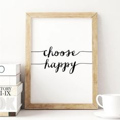 Choose Happy http://www.notonthehighstreet.com/themotivatedtype/product/choose-happy-fine-art-giclee-typography-print @notonthehighst #notonthehighstreet