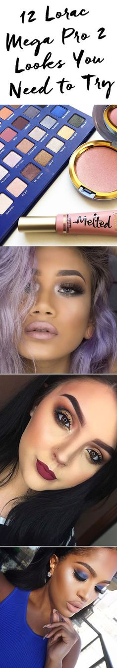 Check out our fave looks and tutorials using LORAC's Mega PRO 2! http://blog.pampadour.com/monday-must-haves-gorgeous-looks-tutorials-using-lorac-mega-pro-palette-2/  #LORAC #megapro2 #palette