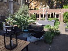 Joining the Clerkenwell Design week in London. Visit us at Cloister Garten on Saint John's Square, May. Patio, London, Outdoor Decor, Design, Home Decor, Garten, Decoration Home, Terrace, Room Decor