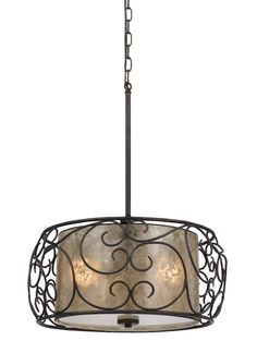 Gorgeous Drum Pendant Lighting Ideas Featuring Frosted Pendant Lamp Shade And Wrought Iron Art Round Shape Pendant Lamp Frames Shade And Gray Color Metal Tubing Along With Gray Color Chain Holders. Drum Pendant, Pendant Chandelier, Pendant Lighting, Light Pendant, Hanging Chandelier, Hanging Pendants, Direct Lighting, Lighting Ideas, Iron Chandeliers