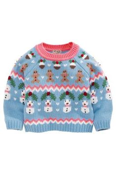 Buy Blue Christmas Fairisle Pattern Sweater (3mths-6yrs) from the Next UK online shop