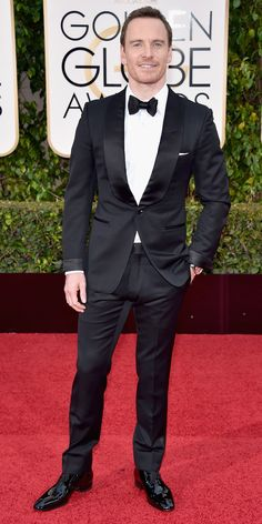 These 12 Hunks Prove the 2016 Golden Globe Awards Were the Hottest Ever - Michael Fassbender - from InStyle.com - Michael suits up nicely!