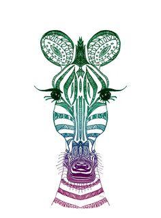 ZOE ZEBRA Art Print by M✿nika Strigel   Society6 for maya
