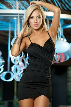 Sexy Black Night Party Sweetheart Ruched Women Clubwear Dress