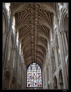 Norwich Cathedral, the West Wing window, Norfolk, England. Cathedral Architecture, Sacred Architecture, Historical Architecture, Cathedral Windows, Church Windows, Cathedral Basilica, Cathedral Church, Norwich Cathedral, Norfolk England