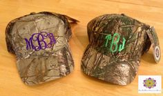 Personalized Monogrammed Camo hat cap on Etsy, $13.99