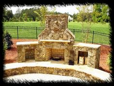 pictures of outside fireplaces with grill incorporated | Only A Spa, Fireplace And Swimming Pool