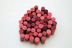 DIY Craft Corks  wine corks  craft supply  PINK - valentines craft ideas