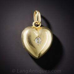 Petite Diamond Heart Locket