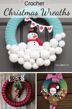Looking for crochet Christmas wreath patterns that will make your Christmas Spirit Bright? Here are 10 beautiful patterns that will make your decor marvelous. Knitting PatternsCrochet For BeginnersCrochet Hair StylesCrochet Scarf Crochet Christmas Wreath, Crochet Wreath, Holiday Crochet, Xmas Wreaths, Christmas Knitting, Crochet Crafts, Crochet Ornaments, Crochet Snowflakes, Free Christmas Crochet Patterns
