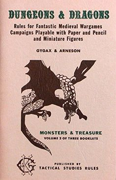 Dungeons & Dragons, Volume 2: Monsters & Treasure by Gary Gygax http://www.amazon.com/dp/B000F2OPWC/ref=cm_sw_r_pi_dp_vVXMwb1JVVQW7