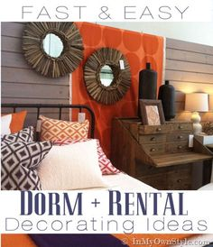 Easy Ideas for Dorm Decorating or Rental Decorating | In My Own Style