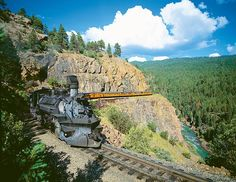 Epic trip: The £21,995 tour sees guests travel on the US's Durango & Silverton Railroad through canyons, the National Forest and the pretty Aminas Valley to Durango