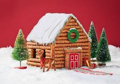 "Pretzel+sticks+might+not+be+sweet+—+but+they+make+mighty+fine+""logs""+for+this+edible+rustic+cabin. More+from+Good+Housekeeping: +4+Festive+Ways+to+Dress+a+Gingerbread+House+» 7+Cute+and+Cheery+Tabletop+Trees+» 12+Gorgeous+Wreaths+to+Make+Right+Now+»   - CountryLiving.com"