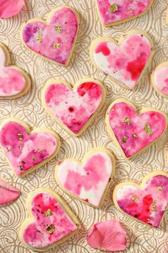 Watercolor Rose Sugar Cookies - SugarHero