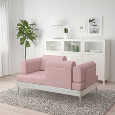 DELAKTIG Gunnared light brown-pink, Chaise longue with armrest. Chaise longue – perfect for a nice nap or a relaxing movie night. Pink Loveseat, Loveseat Covers, Leather Loveseat, Cushion Covers, Tom Dixon, Canape D Angle Design, Design Ikea, Set Design, Loveseats