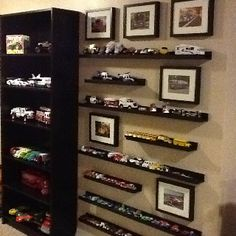 "A way to organize all the matchbox cars and other vehicles. So much better than my boys dumping their bins out on the floor in order to find that ONE particular car!!!  They call it their ""Car Museum"".  :)"