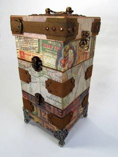 Tower Box....great gift giving idea.... free pdf pattern on blog