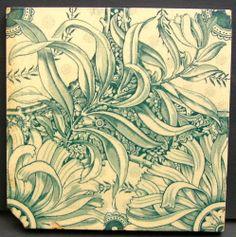 Lovely Antique Victorian Tile c1890