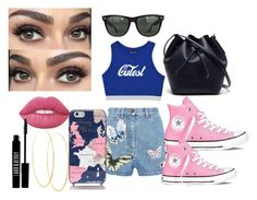 """Sporty/Casual"" by blonde-613 ❤ liked on Polyvore featuring Valentino, Converse, Kate Spade, Lana, Lime Crime, Lord & Berry, Lacoste and Ray-Ban"