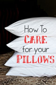 How to wash and care for you pillows - make them last years at TidyMom.net