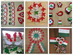 Kreatív ötletek március 15-ére Independence Day Decoration, Diy For Kids, Cosmic, Holiday Decor, Children, Spring, Home Decor, September, Kids