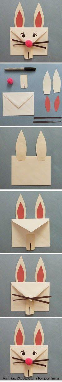 Mektup Zarfı ile Tavşan ve Geyik | OkulÖncesi Sanat ve Fen Etkinlikleri Paylaşım Sitesi