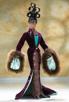 Looking for the Byron Lars Plum Royale Barbie Doll? Immerse yourself in Barbie history by visiting the official Barbie Signature Gallery today! Black Barbie, Barbie I, Barbie World, Barbie Toys, Barbie Cake, Barbie Stuff, Doll Stuff, Byron Lars, African American Dolls