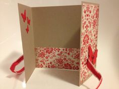 A great card layout for using up scraps of paper.  Even the teeny butterflies :)