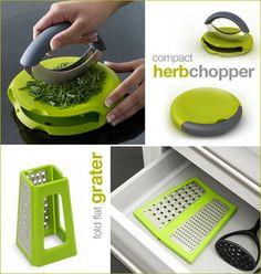 Compact Herb Chopper - Super handy!